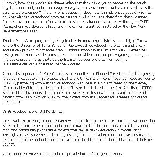 2012 CFISD IYG FB Article proof of Planned Parenthood 2
